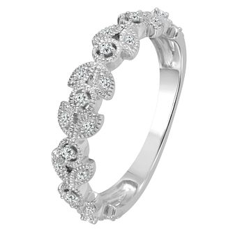 9ct White Gold 0.12ct Diamond Eternity Ring - Product number 4341368