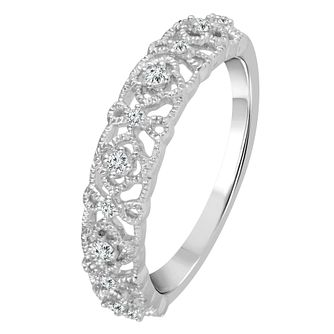 9ct White Gold 1/10ct Diamond Eternity Ring - Product number 4341651