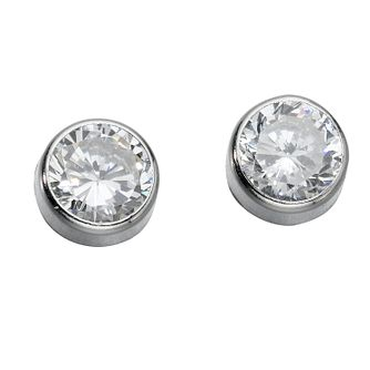 9ct White Gold Cubic Zirconia Stud Earrings - Product number 4343492