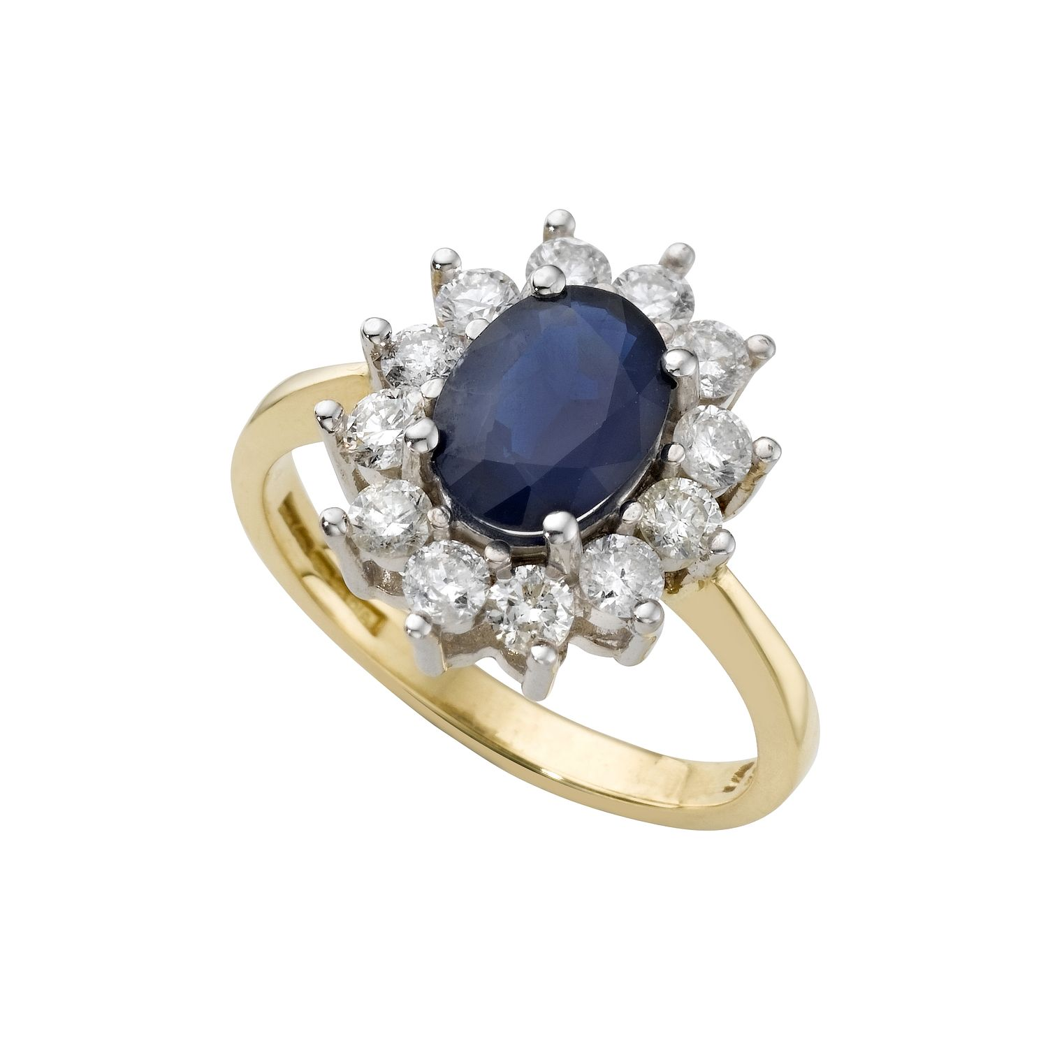 18ct Gold Sapphire & 0.66ct Diamond Ring - Product number 4344502