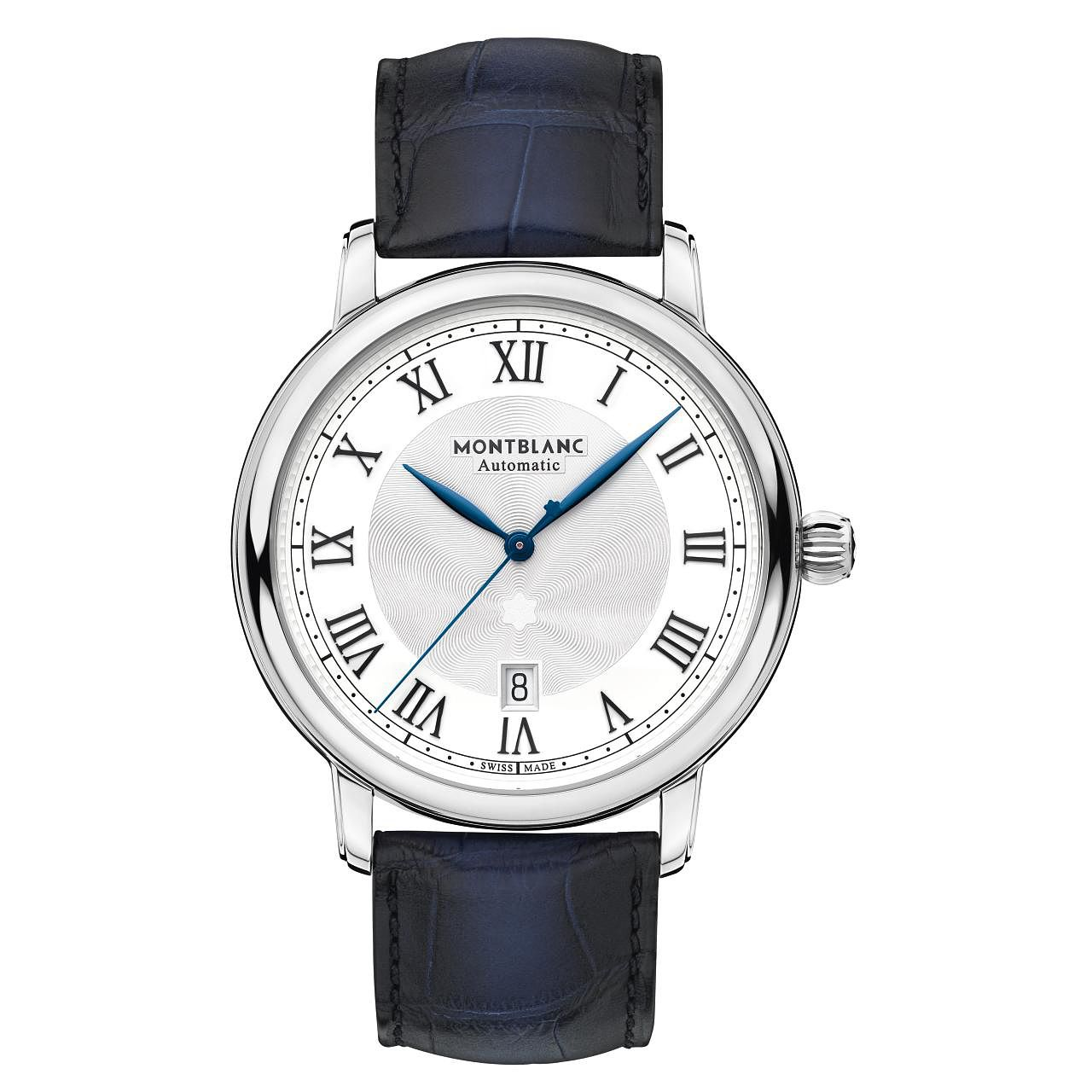 Montblanc Star Legacy Men's Blue Leather Strap Watch - Product number 4344715