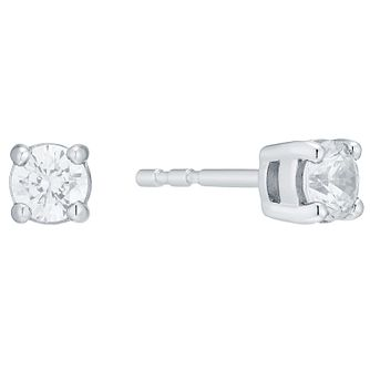 18ct White Gold 0.50ct Diamond Earrings H/I Si2 - Product number 4344960