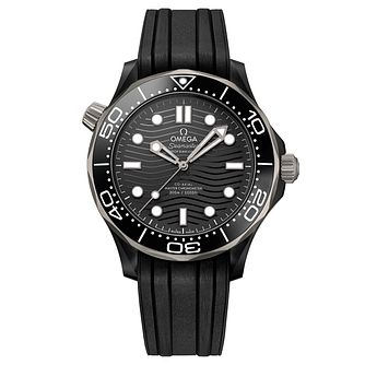 Omega Seamaster Diver Men's Black Rubber Strap Watch - Product number 4346130
