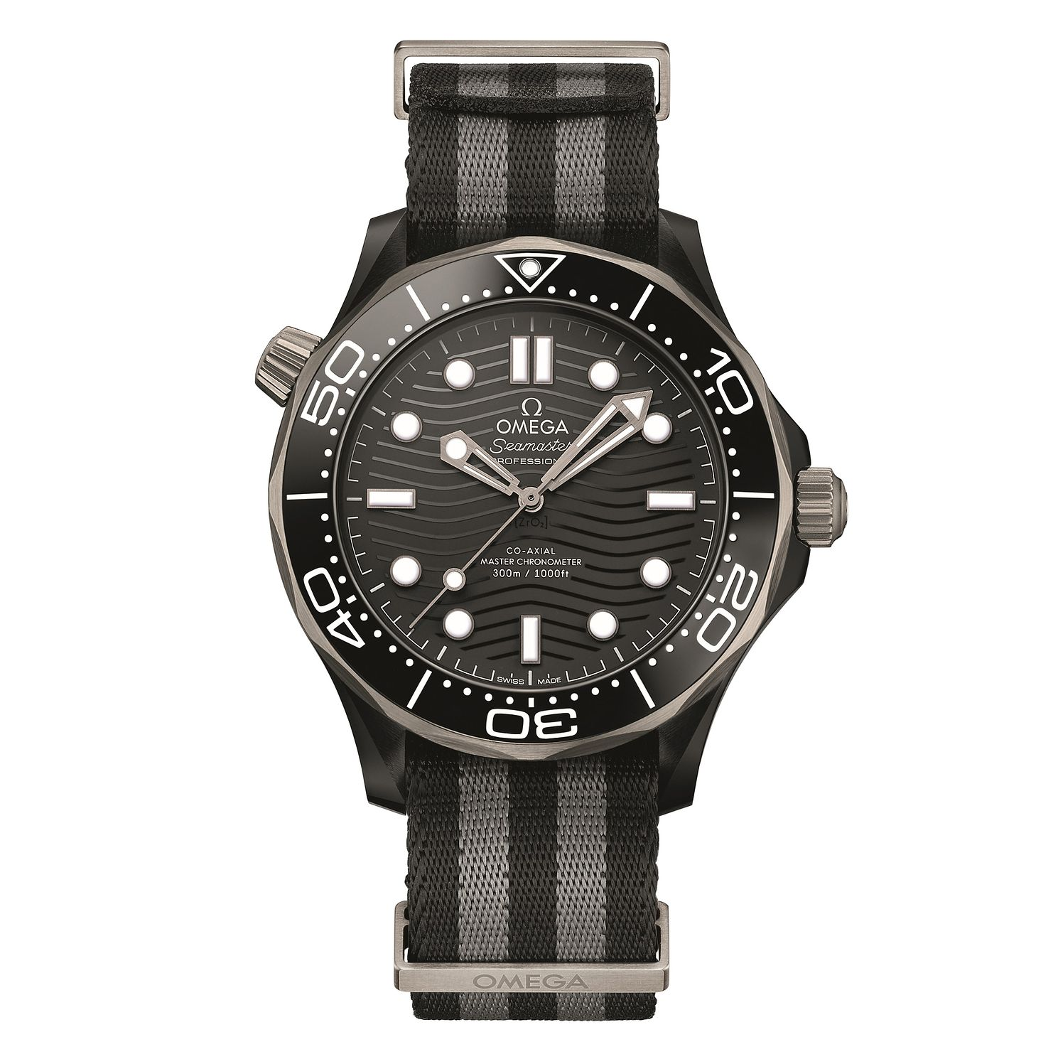 Omega Seamaster Diver Men's Black Fabric Strap Watch - Product number 4346149
