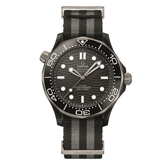 Omega Seamaster Diver Men's Black Stripe Strap Watch - Product number 4346149
