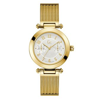 Gc Primechic Ladies' Yellow Gold Plated Mesh Bracelet Watch - Product number 4346238