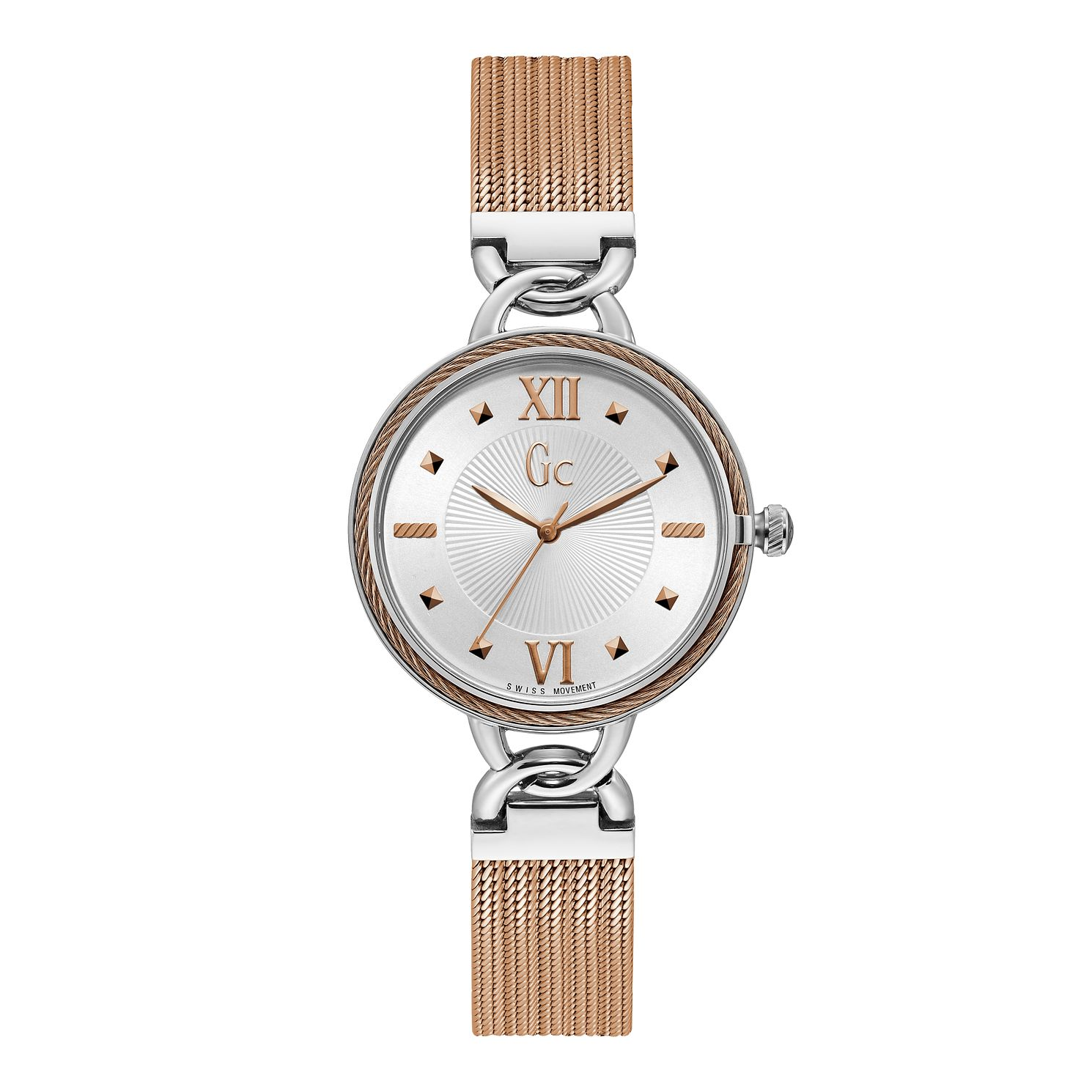 Gc Cabletwist Ladies' Two Tone Mesh Bracelet Watch - Product number 4346386