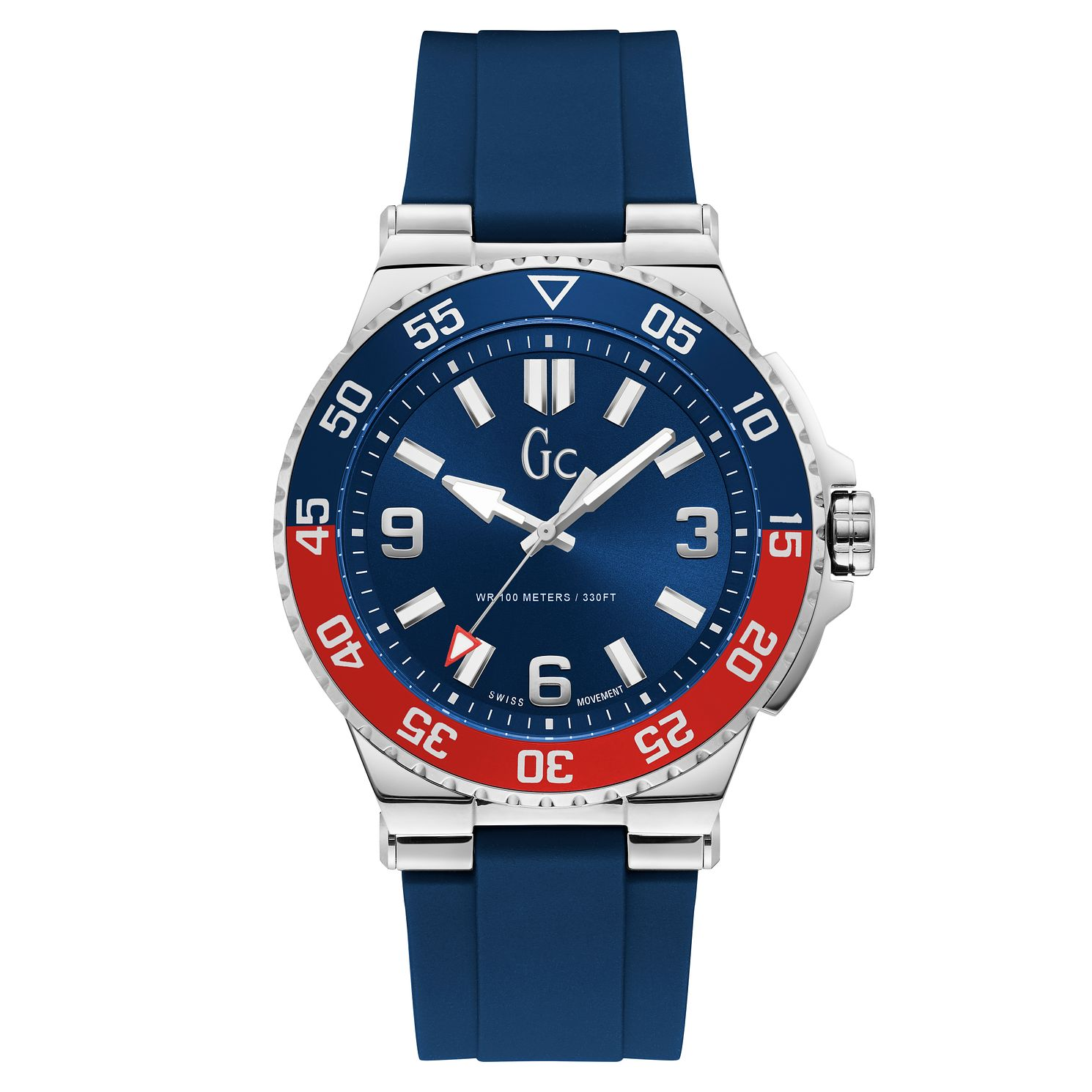 Gc Structura Diver Men's Blue Silicone Strap Watch - Product number 4346467