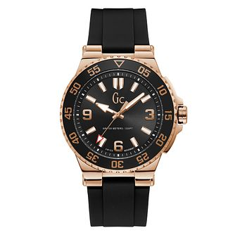 Gc Structura Diver Men's Black Silicone Strap Watch - Product number 4346491
