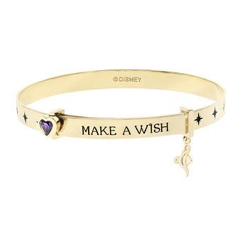 Disney Aladdin Children's Gold Plated 'Make A Wish' Bangle - Product number 4346505