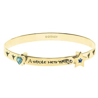 Disney Aladdin Children's Gold Plated 'New World' Bangle - Product number 4346513
