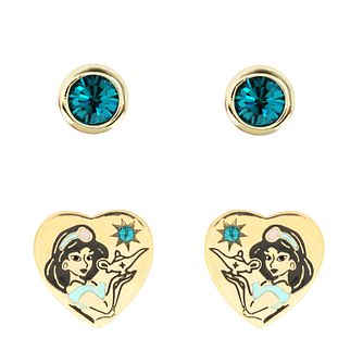 Disney Aladdin Children's Gold Plated Jasmine Earrings Set - Product number 4346564