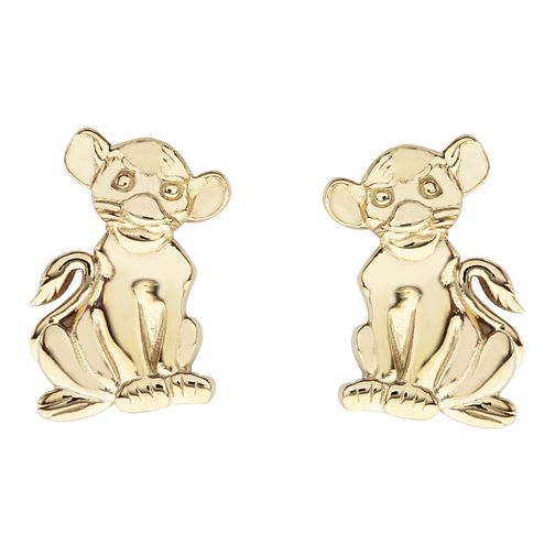 Disney Children's The Lion King Gold Tone Simba Earrings - Product number 4346742