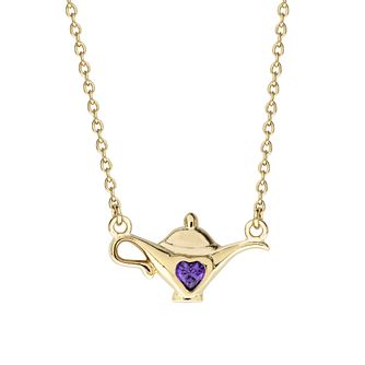 Disney Aladdin Children's Gold Plated Genie Lamp Necklace - Product number 4346831
