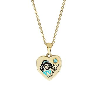 Disney Aladdin Children's 9ct Gold Tone Jasmine Heart Locket - Product number 4346858