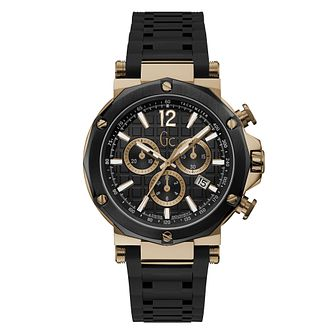 Gc Spirit Men's Black Silicone Strap Watch - Product number 4347447