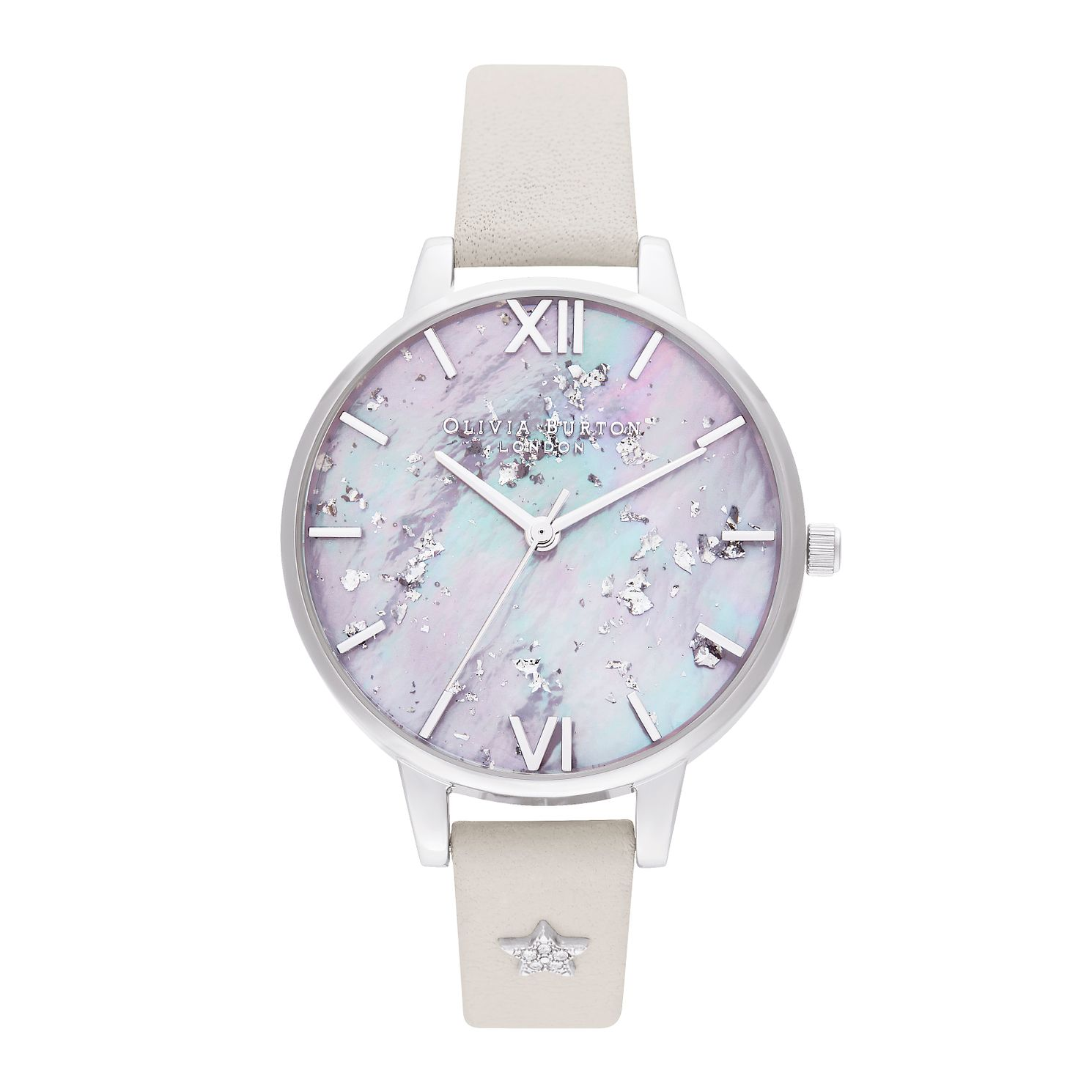 Olivia Burton Celestial Star Pink Leather Strap Watch - Product number 4351487