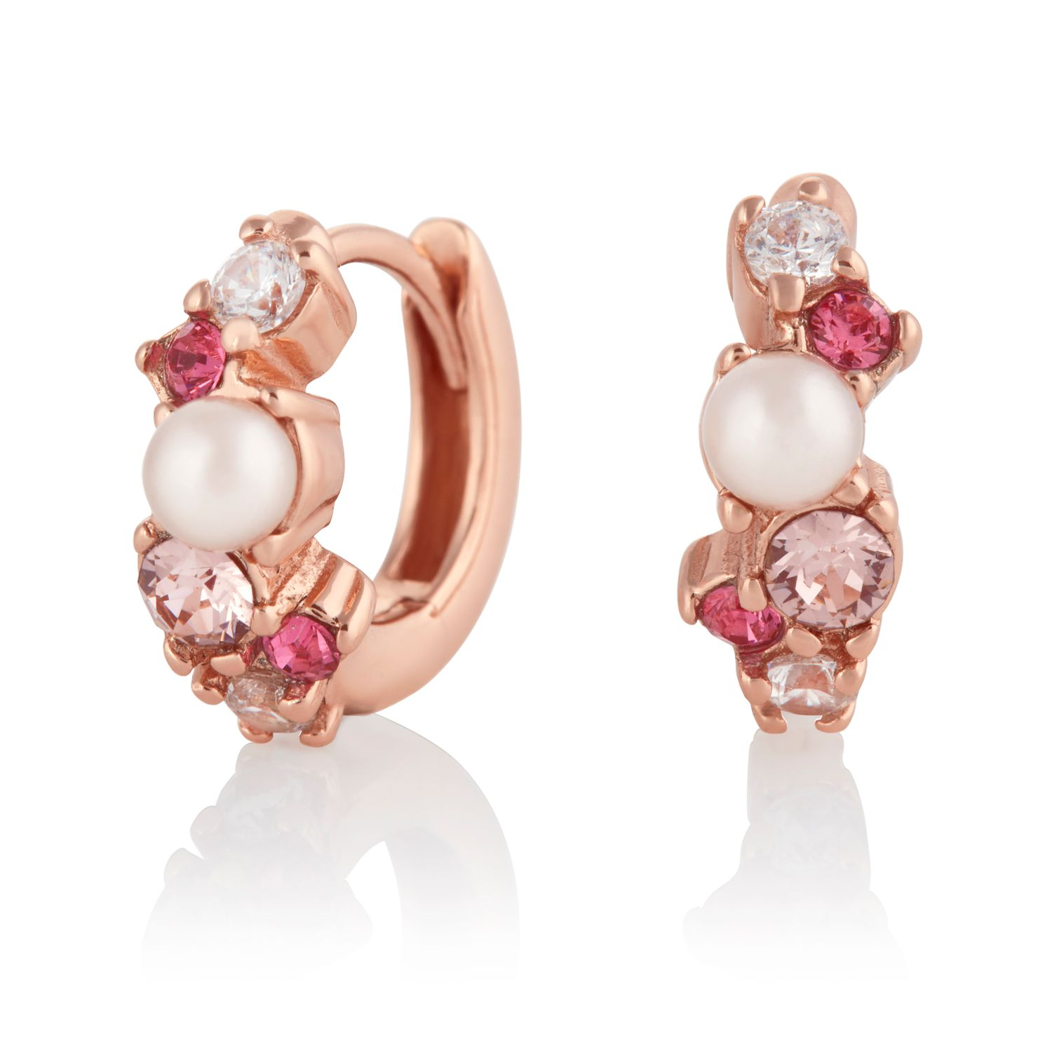 Olivia Burton Under The Sea Rose Gold Tone Hoop Earrings - Product number 4351576