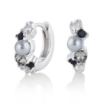 277013eeddeae Climber Hoop Sri Lankan Sapphire Swarovski crystal Jewellery ...