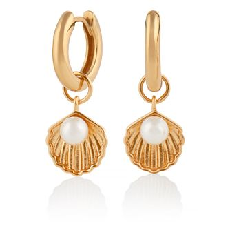 Olivia Burton Under The Sea Shell Yellow Gold Tone Earrings - Product number 4351630