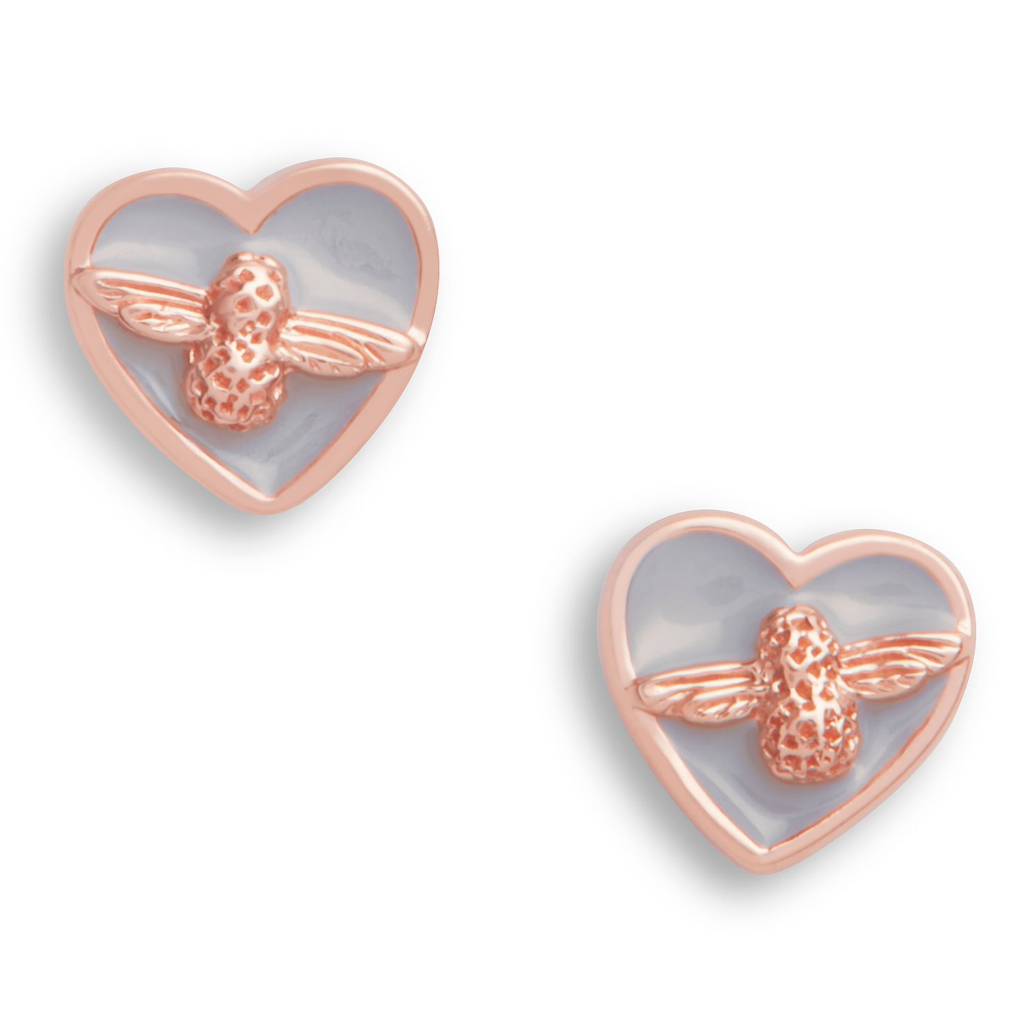 Olivia Burton Love Bug Rose Gold Tone & Enamel Stud Earrings - Product number 4351657