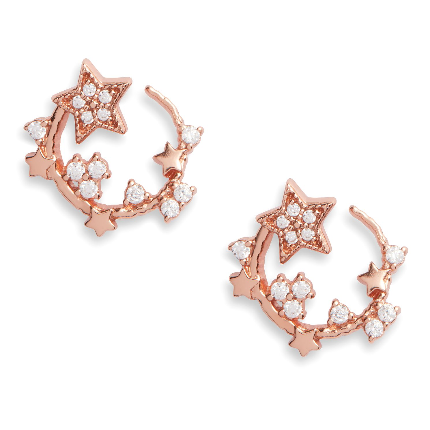 Olivia Burton Rose Gold Plated Silver Swirl Hoop Earrings - Product number 4351673