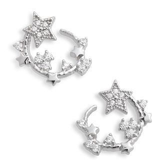 Olivia Burton Celestial Silver Swirl Hoop Earrings - Product number 4351681
