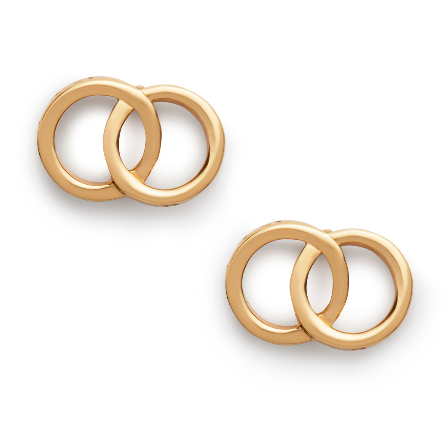Olivia Burton Classics Interlink Yellow Gold Tone Earrings - Product number 4351851