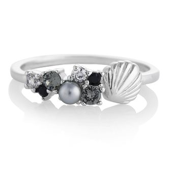 Olivia Burton Under The Sea Shell Rhodium Plated Small Ring - Product number 4352572