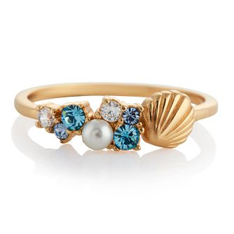 Olivia Burton Under The Sea Shell Gold Tone Small Ring - Product number 4352602
