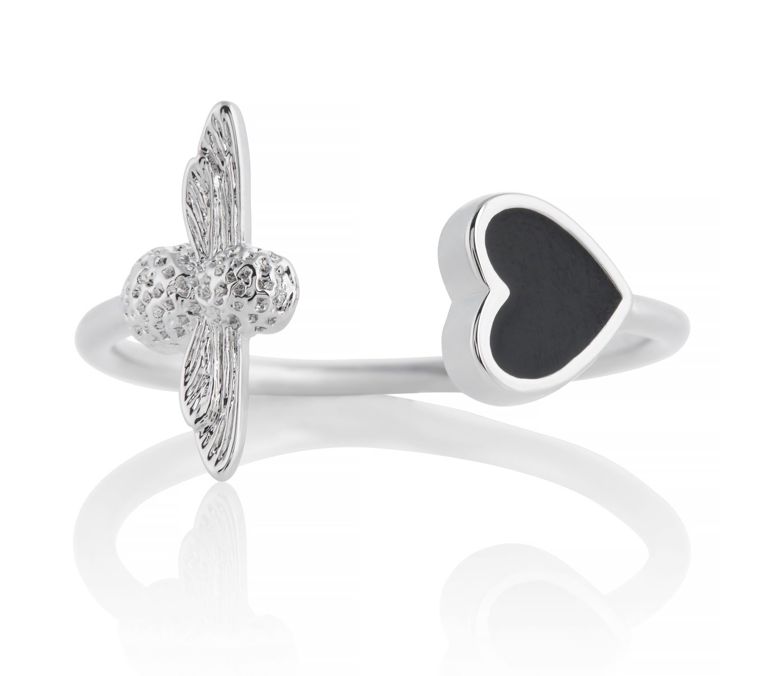 Olivia Burton Love Bug Rhodium Plated & Enamel Ring - Product number 4352637