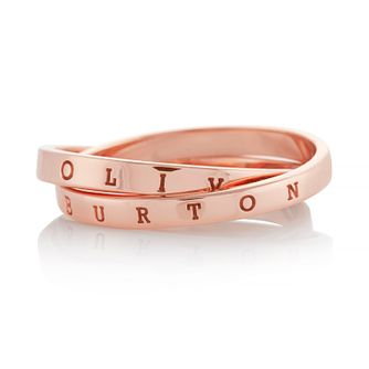 Olivia Burton Classics Interlink Rose Gold Tone Medium Ring - Product number 4352653