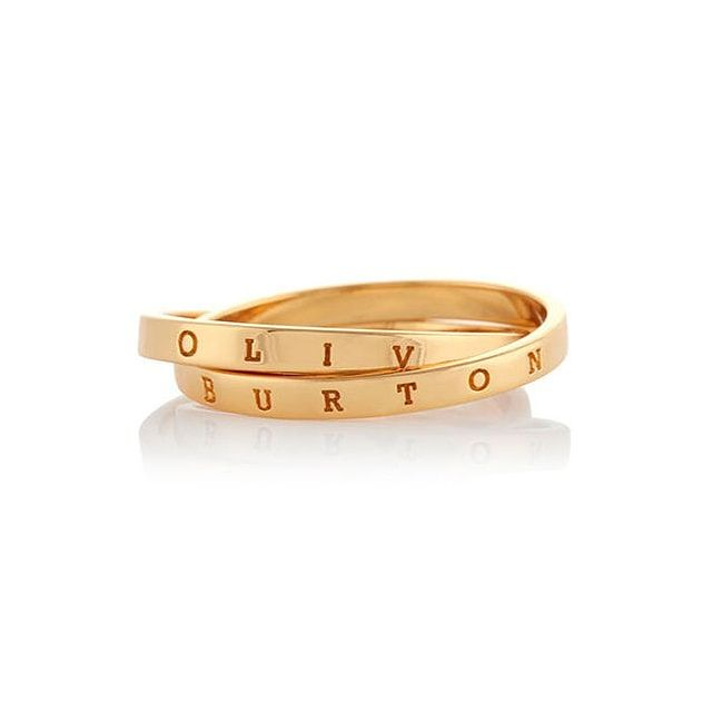 Olivia Burton Classics Interlink Gold Tone Medium Ring - Product number 4352718