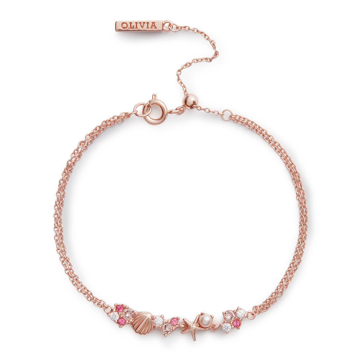 Olivia Burton Under The Sea Rose Gold Tone Chain Bracelet - Product number 4352726