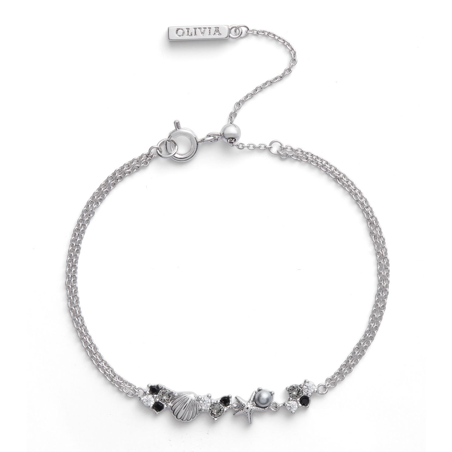 Olivia Burton Under The Sea Rhodium Plated Chain Bracelet - Product number 4352734