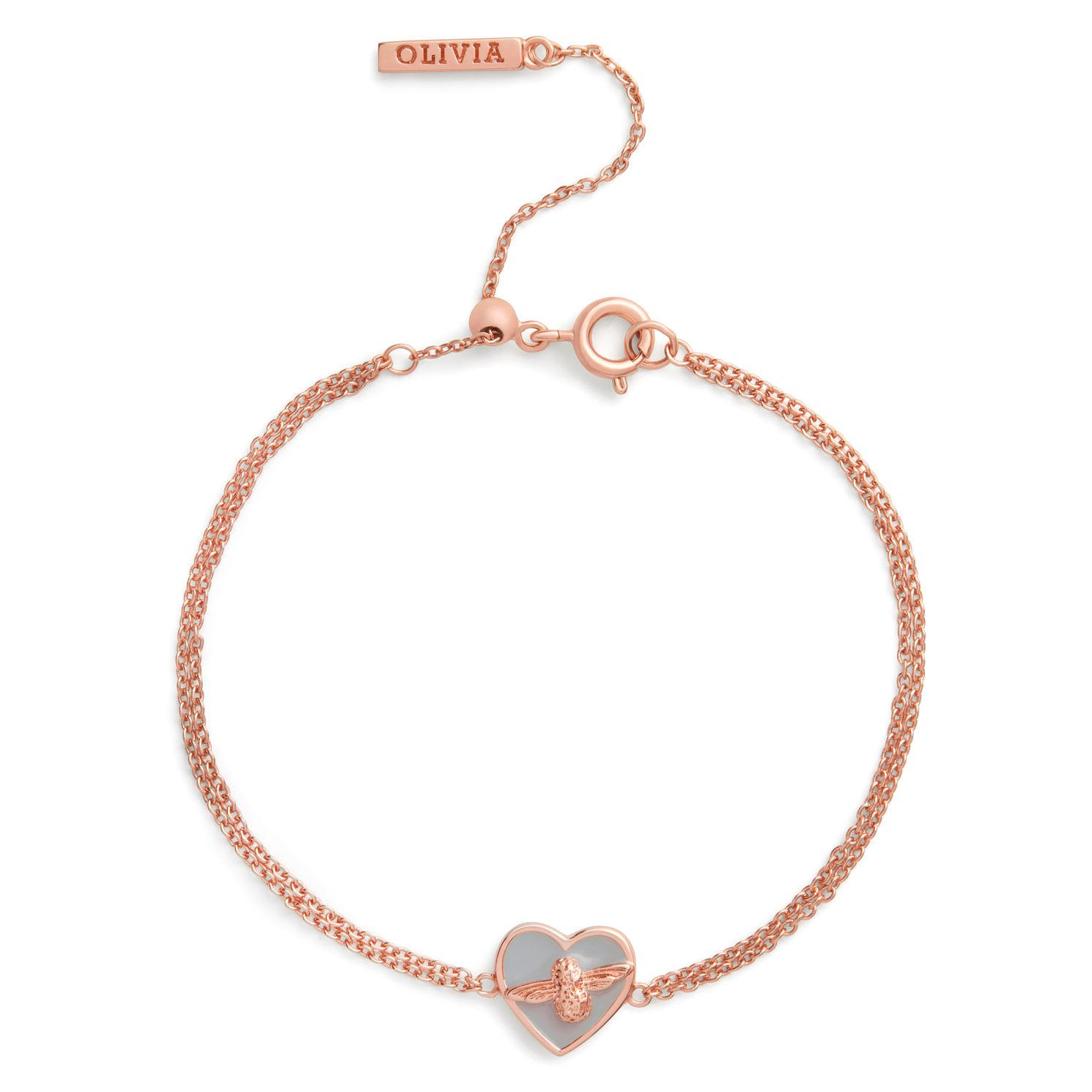 Olivia Burton Love Bug Rose Gold Tone & Enamel Bracelet - Product number 4352777