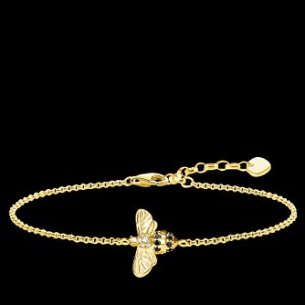 Thomas Sabo Bee Yellow Gold Plated Cubic Zirconia Bracelet - Product number 4353048