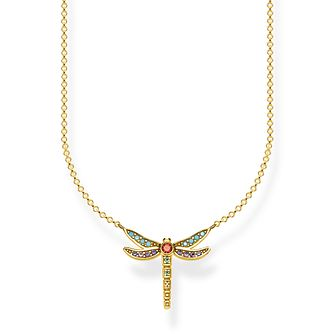 Thomas Sabo Paradise Dragonfly Yellow Gold Plated Necklace - Product number 4353080