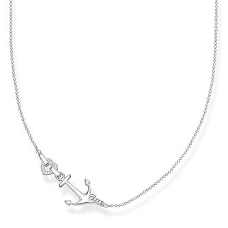 Thomas Sabo Love Anchor 925 Sterling Silver Cz Necklace - Product number 4353099