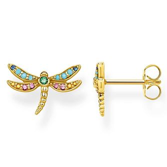 Thomas Sabo Paradise Dragonfly Yellow Gold Plated Earrings - Product number 4353145