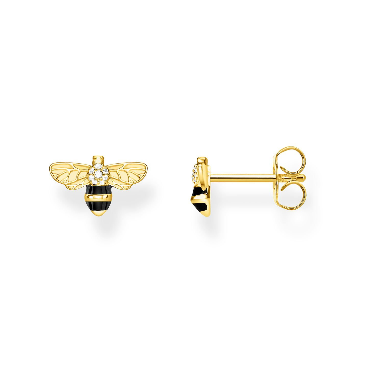 Thomas Sabo Bee Yellow Gold Plated Cubic Zirconia Earrings - Product number 4353153
