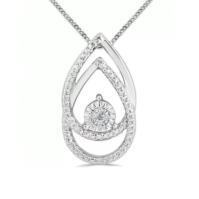 Silver Diamond Pear Shaped Pendant - Product number 4355717
