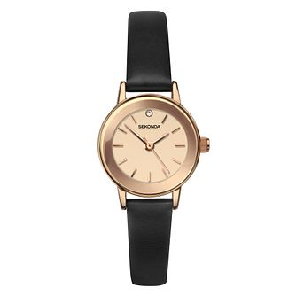 Sekonda Crystal Ladies' Brown Leather Strap Watch - Product number 4365534