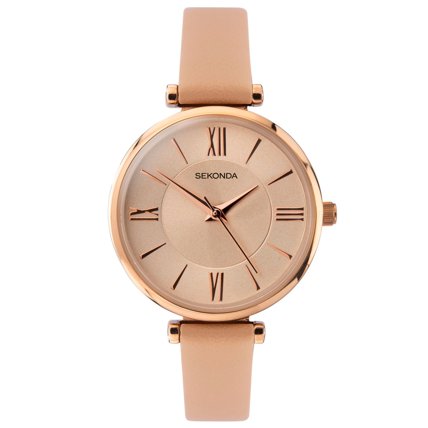 Sekonda Ladies' Nude Leather Strap Watch - Product number 4365666