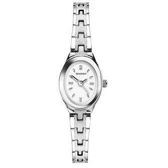 Sekonda Oval Ladies' Silver Tone Bracelet Watch - Product number 4365682