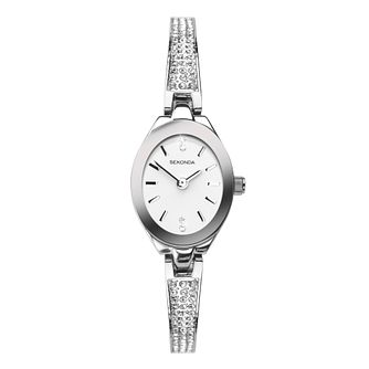 Sekonda Ladies' Crystal Stainless Steel Semi-Bangle Watch - Product number 4365704