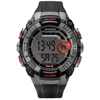 Sekonda Men's Digital Chronograph Black Strap Watch - Product number 4365763