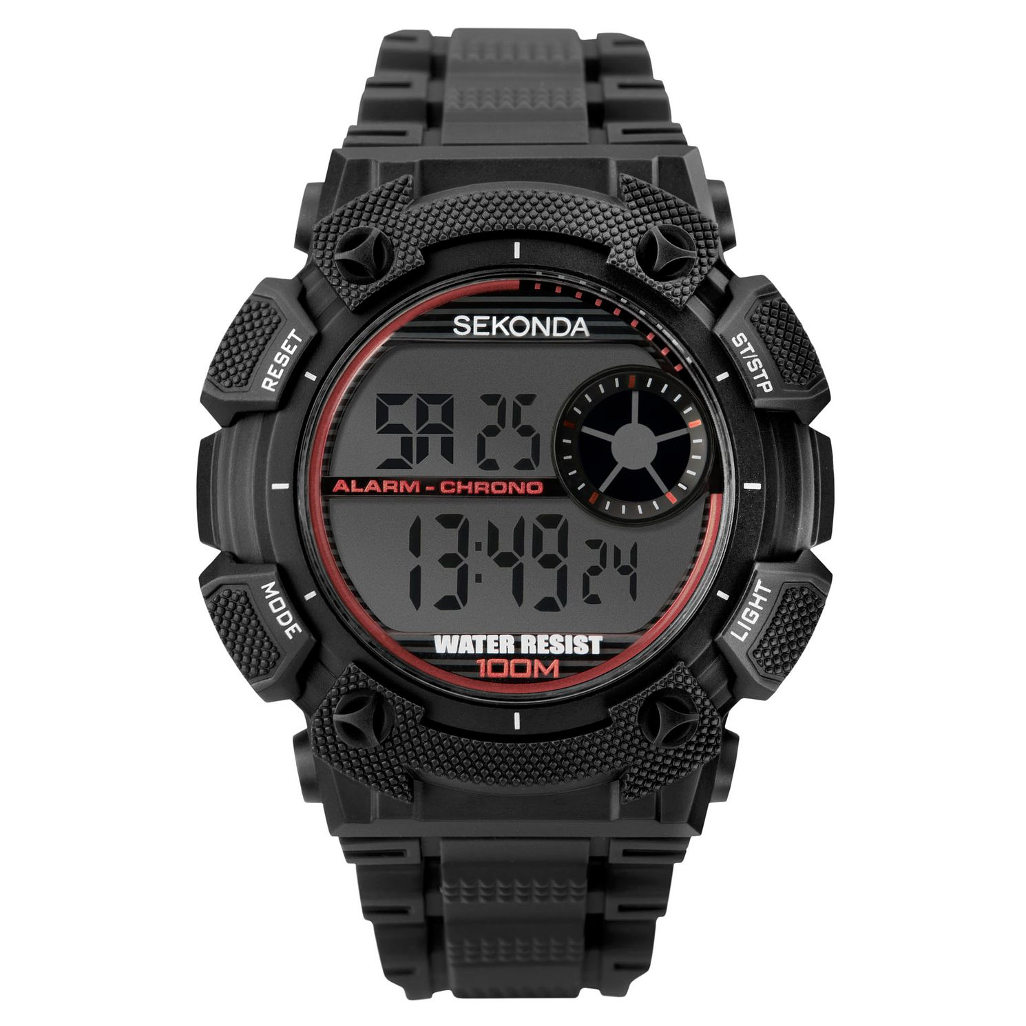 Sekonda Men's Digital Black Strap Watch - Product number 4365771