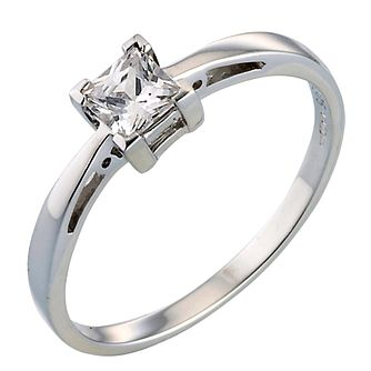 9ct White Gold Cubic Zirconia Ring - Product number 4368428