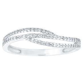 9ct White Gold 0.15ct Diamond Swirl Eternity Ring - Product number 4369890